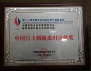 中国自主创新杰出贡献奖